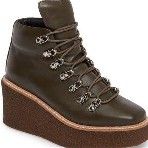 Jeffrey Campbell Shoes Rosalee C Cutout Suede Bootie
